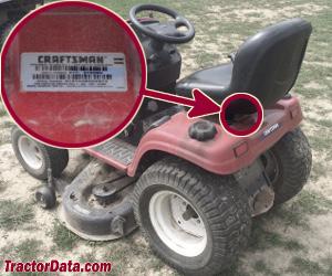 Craftsman 917.27608 serial number location