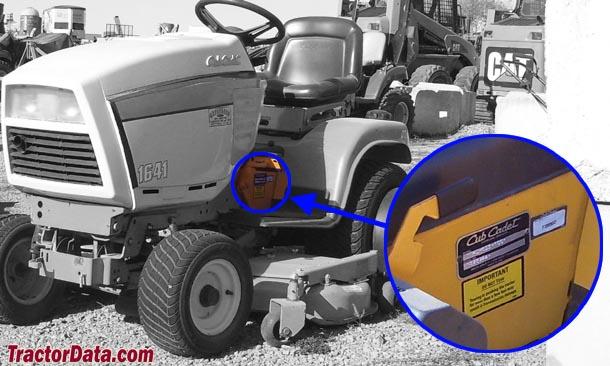 tractordata com cub cadet 1641 tractor information rh tractordata com Cub Cadet Snow Thrower Parts Cub Cadet 125 Parts