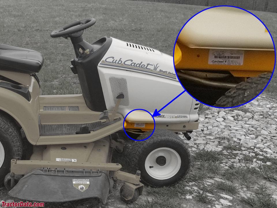 TractorData com Cub Cadet GT 2186 tractor information