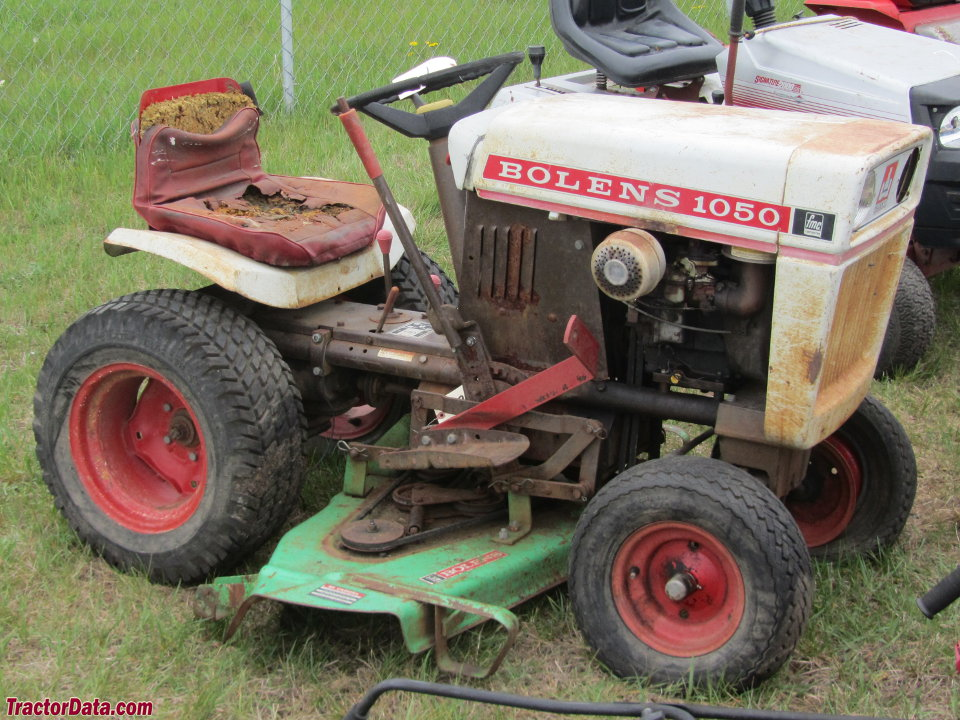 Bolens 1050 with mower deck, right side.