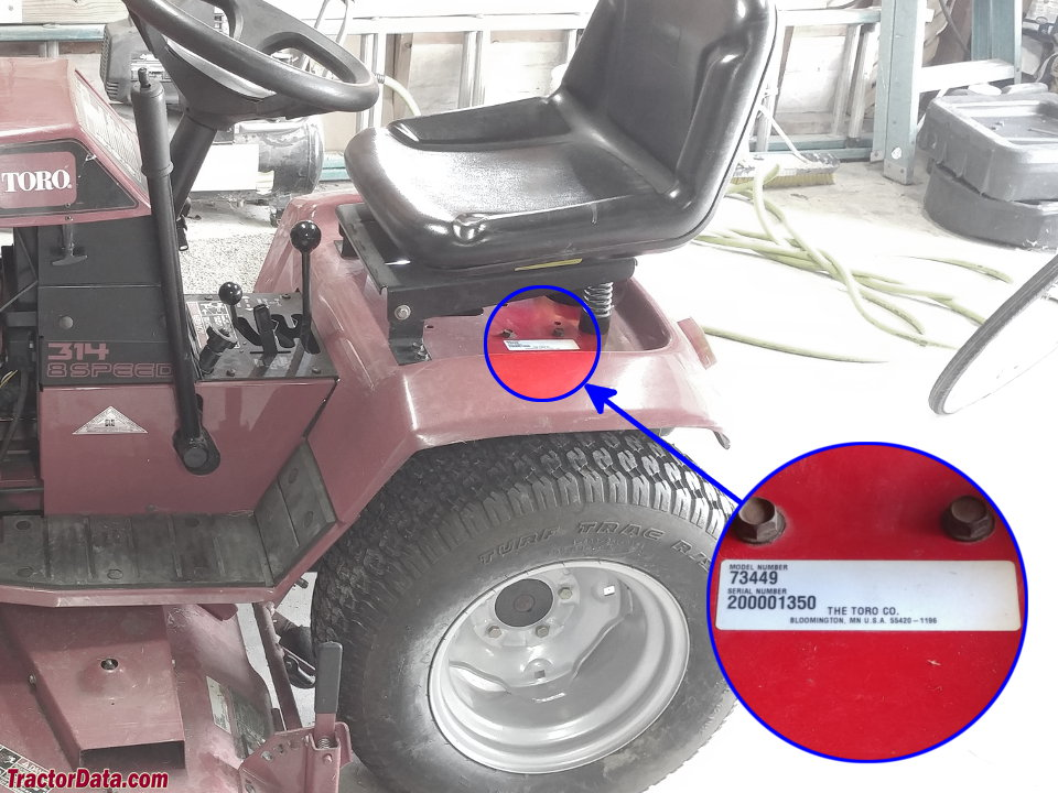 TractorDatacom Toro Wheel Horse 3148 tractor information