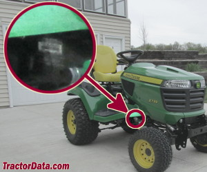 John Deere X730 serial number location
