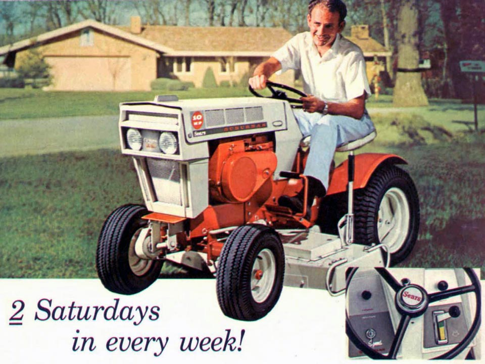Old Sears 10 Hp Tractors : Sears lawn and garden catalog ftempo