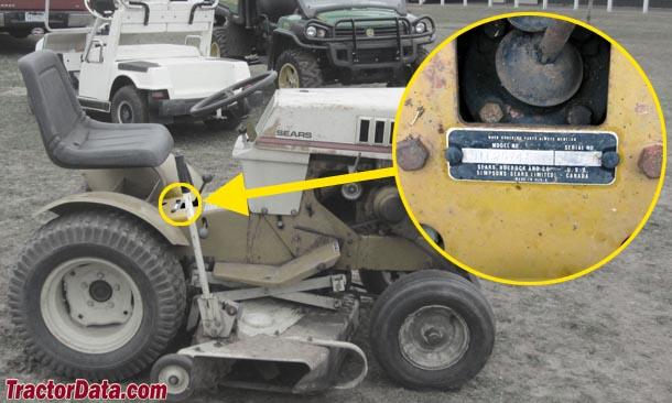 1974 Sears Garden Tractor : Tractordata sears st  tractor photos