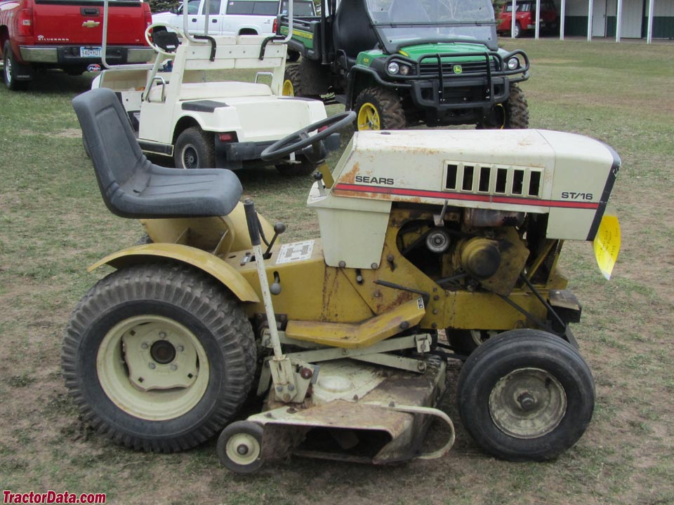 Sears Lawn And Garden Tractors : Tractordata sears st  tractor photos