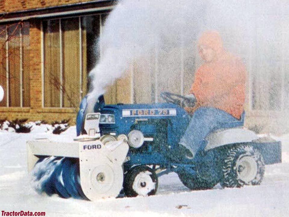 Ford LT 75 with snow blower.