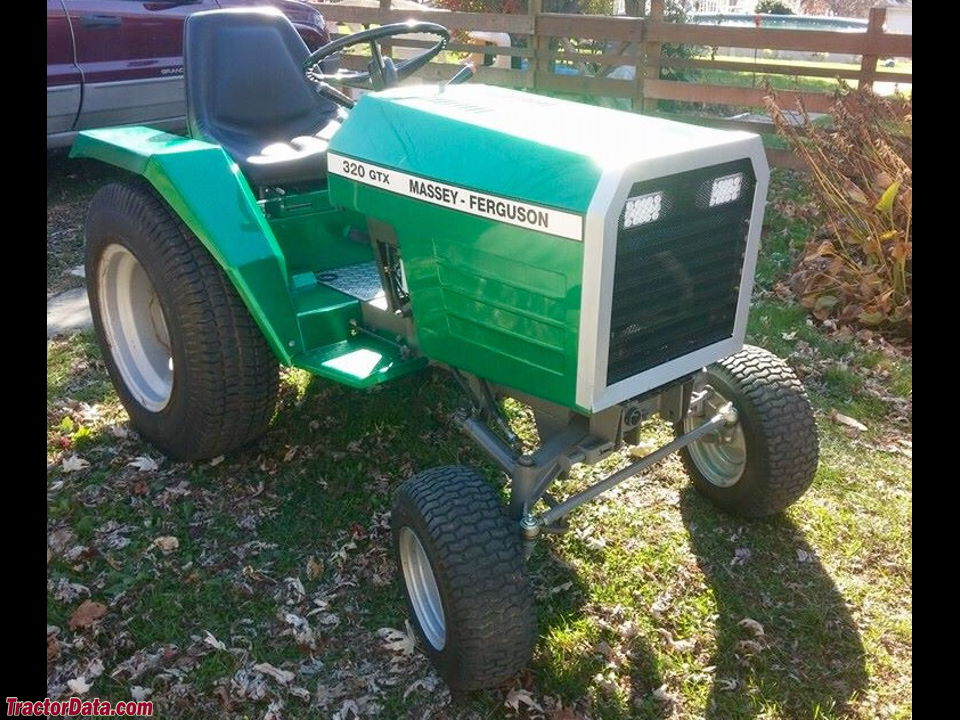 Massey Ferguson 320GTX Garden Tractor With Custom Paint And Headlights. Images