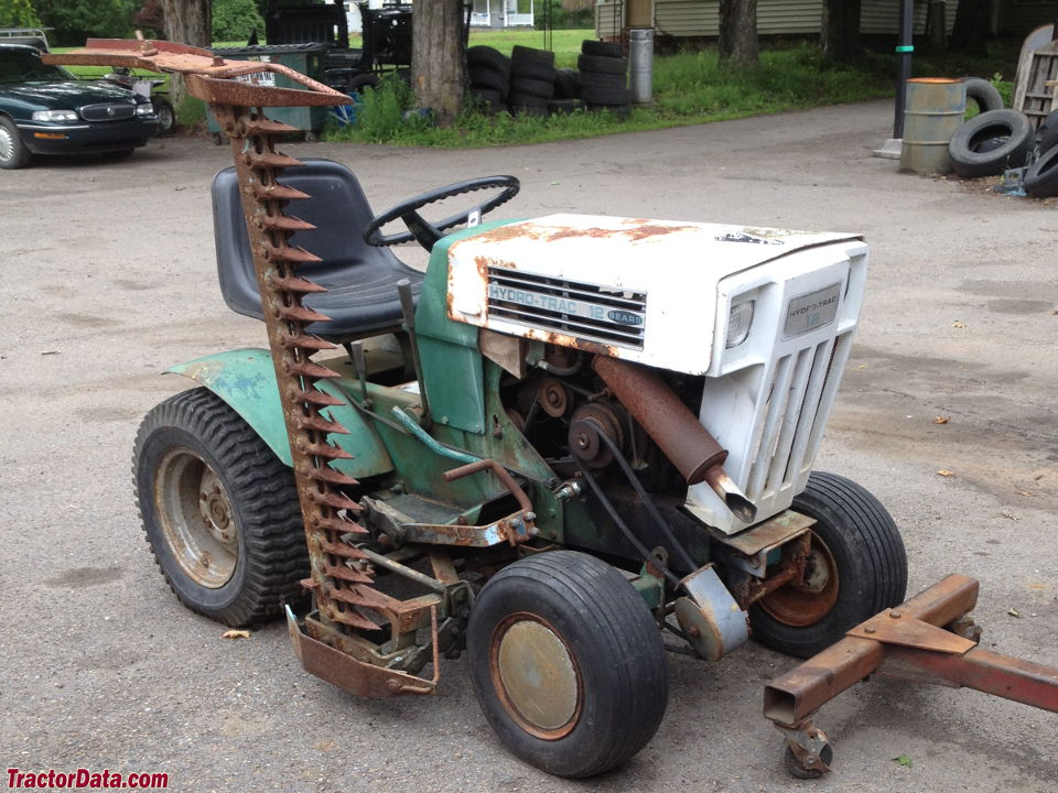 Sears hydro trac 12 tractor photos information for Sickle mower for garden tractor