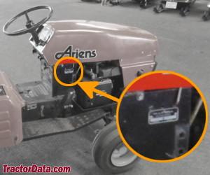 Ariens GT17 serial number location
