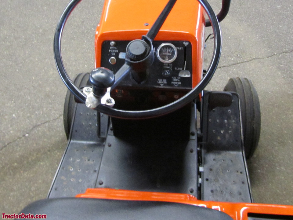 Ariens S-14H operator station and controls.