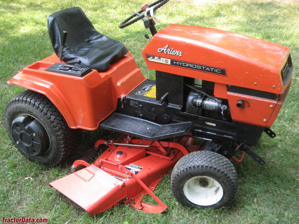 Ariens S-14H with mower deck, right side.