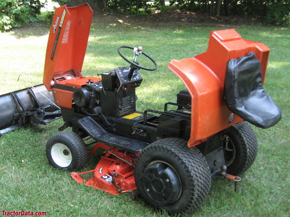 Ariens S-14H with hood and fenders raised.