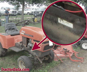 Ariens S-16H serial number location