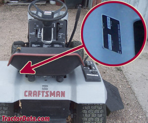 Craftsman 917.25479 serial number location