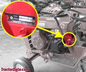Wheel Horse 8HP 4-Speed serial number location
