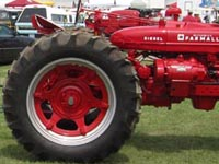 Farmall Electrall with baler