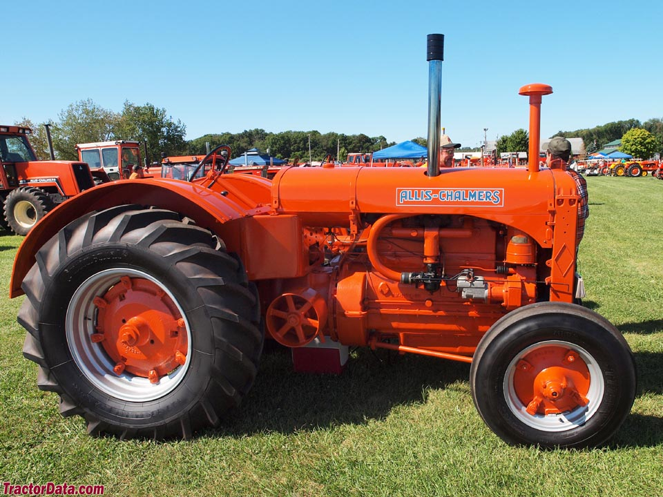 1938 Allis-Chalmers model A tractor, right side.
