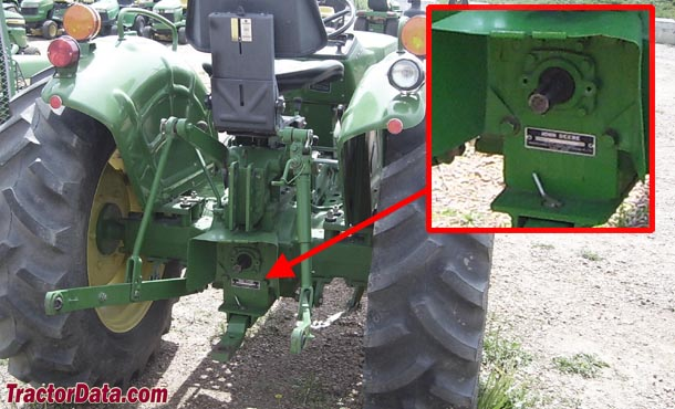 John Deere 950 serial number location