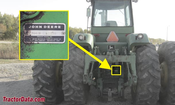 John Deere 8640 serial number location