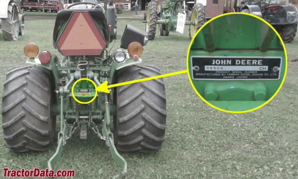 John Deere 650 serial number location