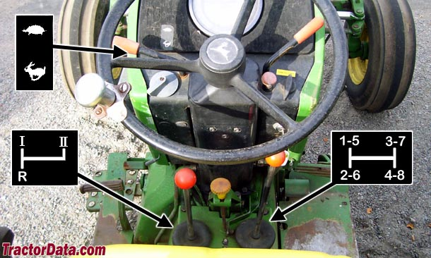John Deere 2550 Hi-Lo Top-Shaft Synchronized transmission photo