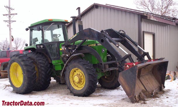 John Deere 4450 with 4WD and loader, front-right view