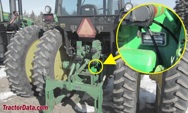 John Deere 4450 serial number location