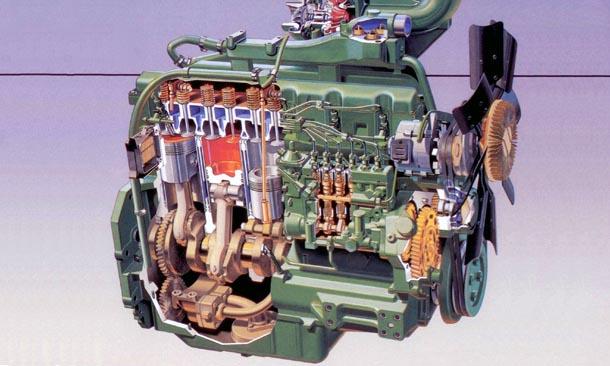 John Deere 4650  engine photo