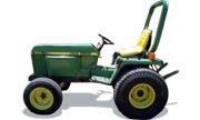 John Deere 855 tractor photo