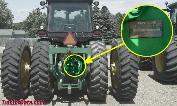 John Deere 4555 serial number location