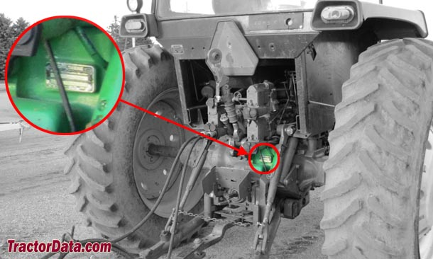 John Deere 4455 serial number location