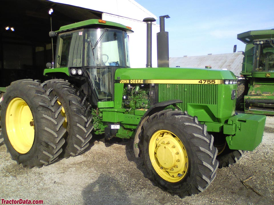 John Deere 4755 with four-wheel drive.