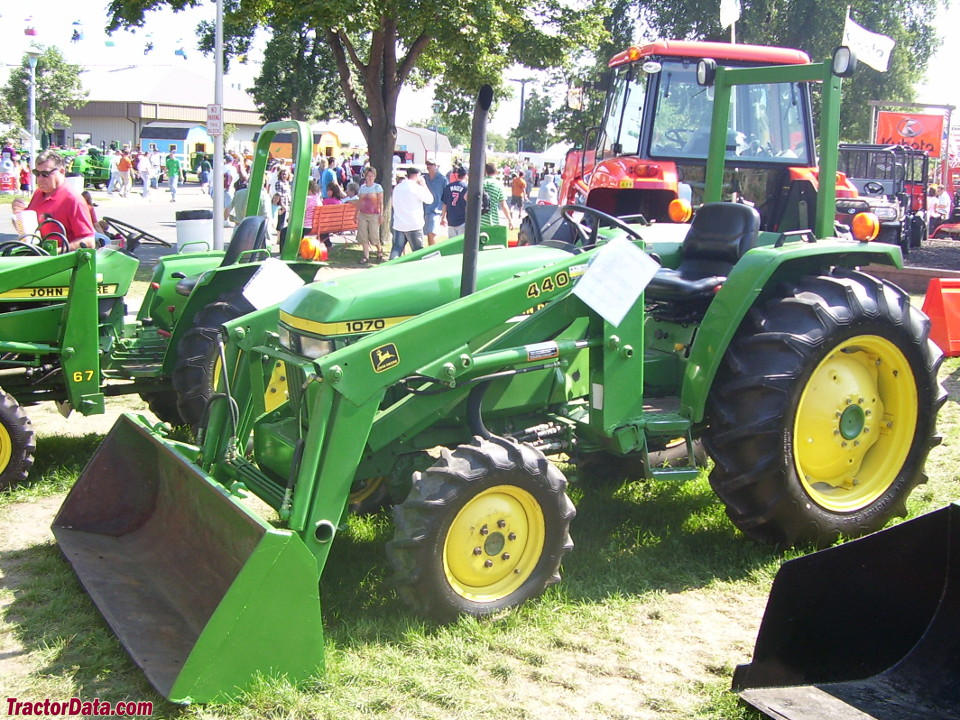 John Deere 1070 with four-wheel drive and front end loader.