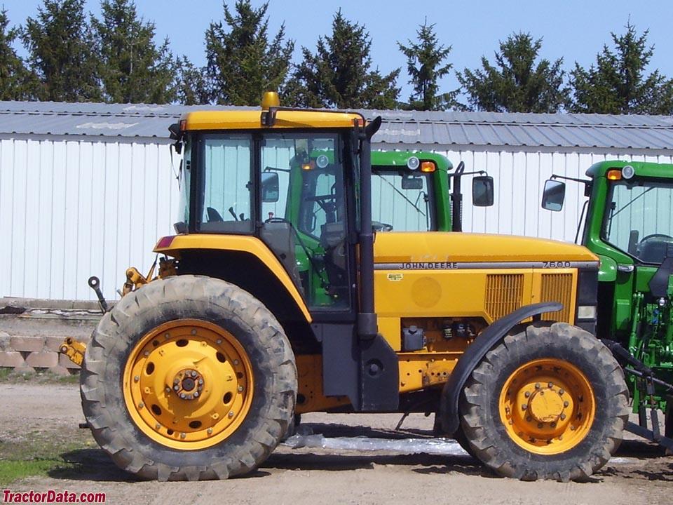 TractorData.com John Deere 7600 tractor photos inf