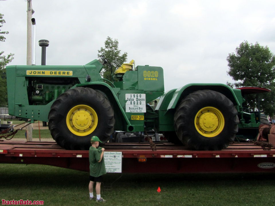 John Deere 8020, left side view.