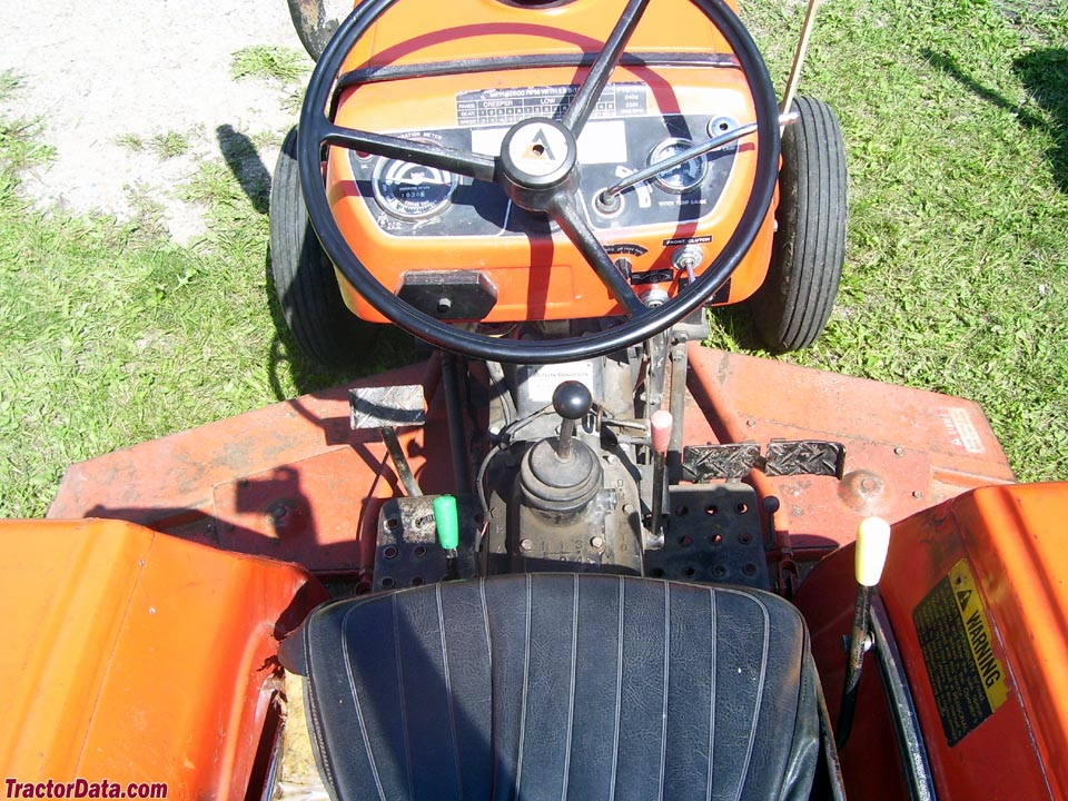 Allis-Chalmers 5020 operator station and controls.