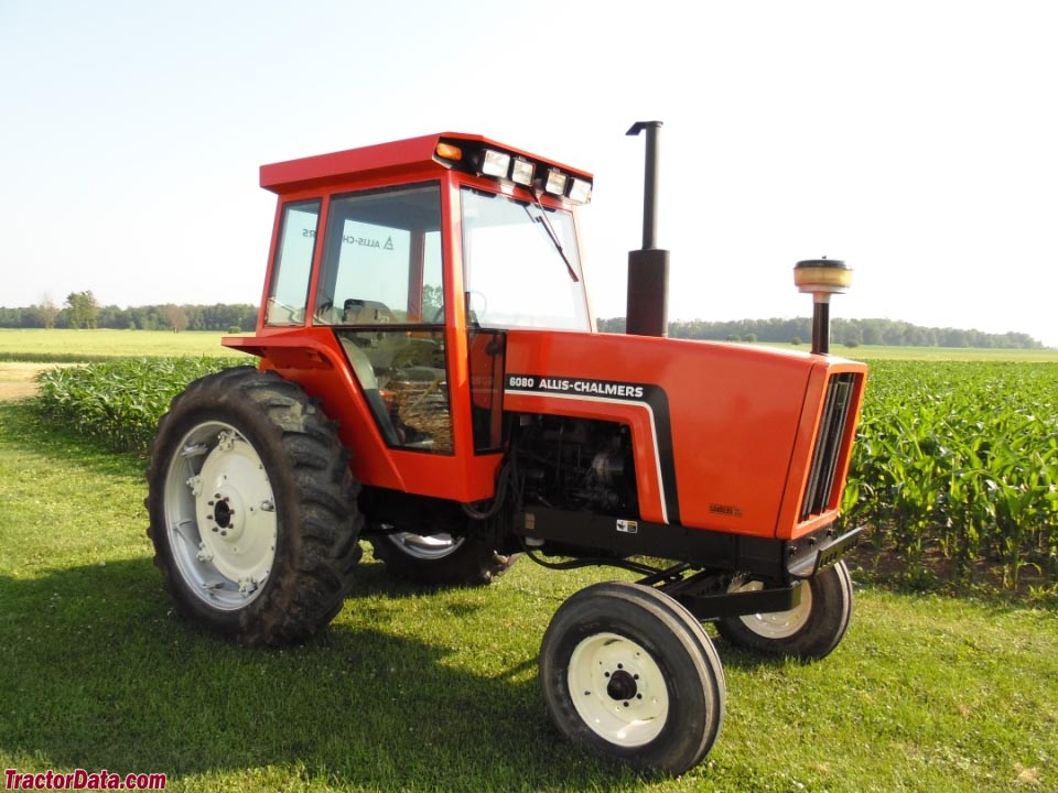 Allis-Chalmers 6080 with two-wheel drive.