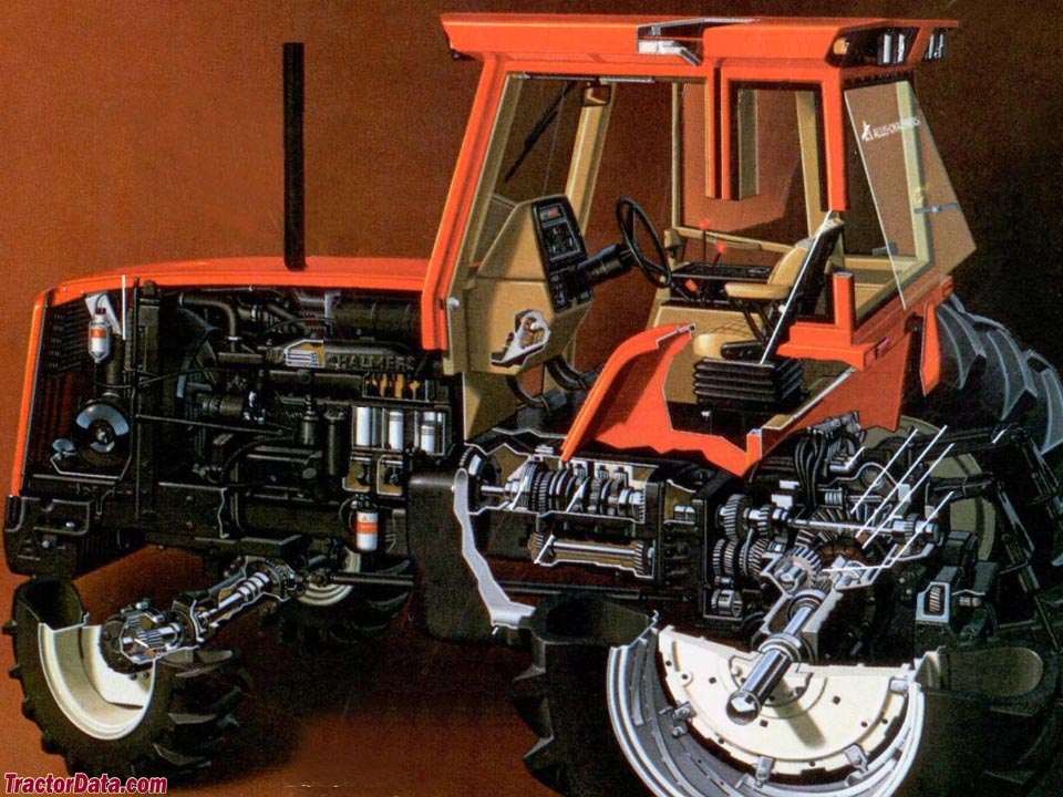 Cut-away view of Allis-Chalmers 8070.