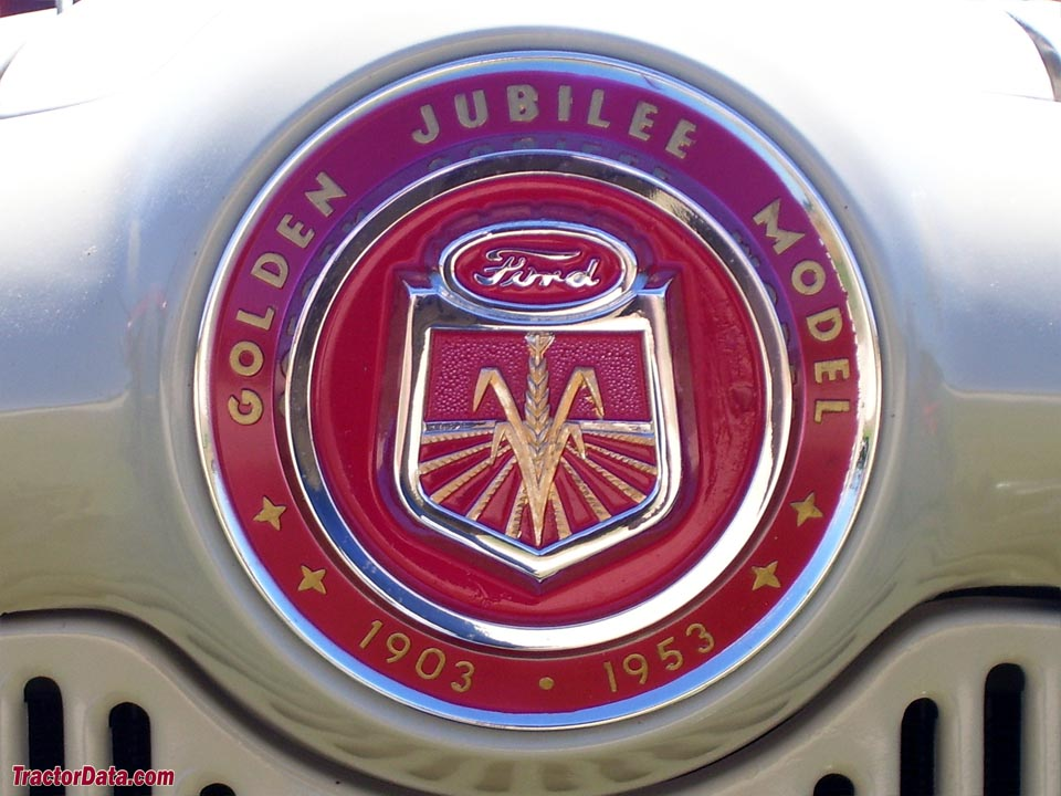 Hood badge on the 1953 Ford Golden Jubilee