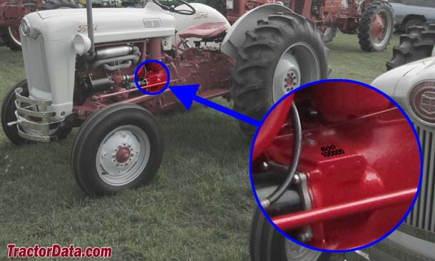 serial number location on 8n ford tractor  serial  get