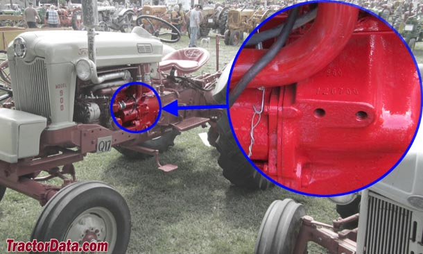 1961 Ford 2000 Tractor Front Grill : Tractordata ford tractor photos information