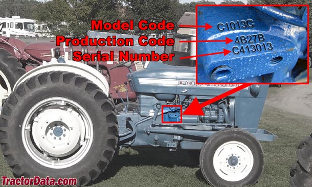Ford 3000 serial number location