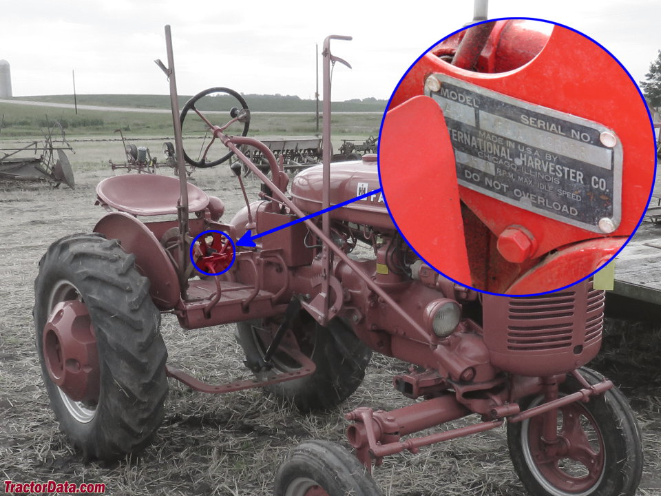 tractordata farmall a tractor information Super a Farmall Tractor Implements photo of a serial number