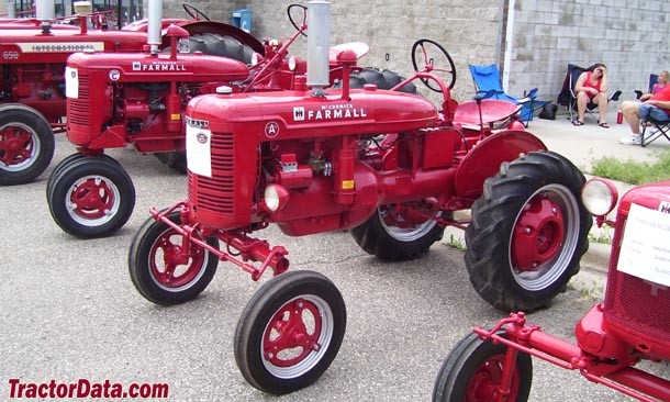 Front-left view of the Farmall A