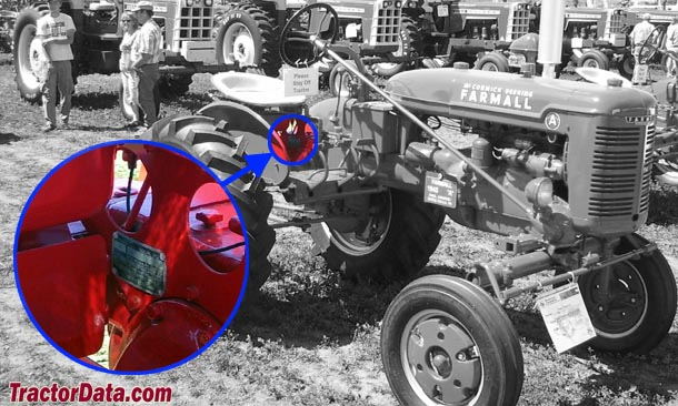 Farmall A serial number location