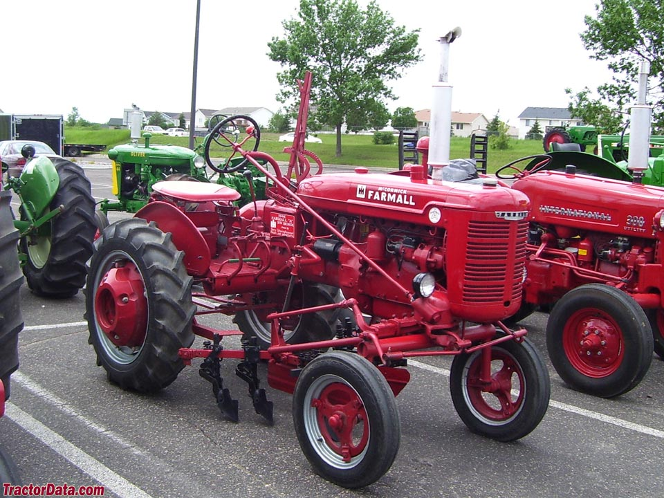 Farmall A with mounted cultivators.