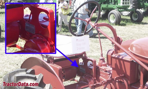 Farmall B serial number location