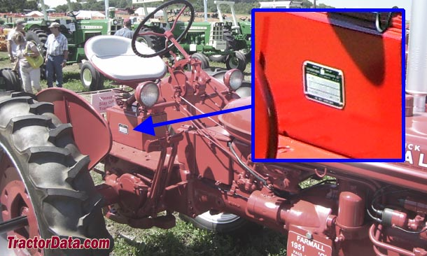 Farmall C serial number location