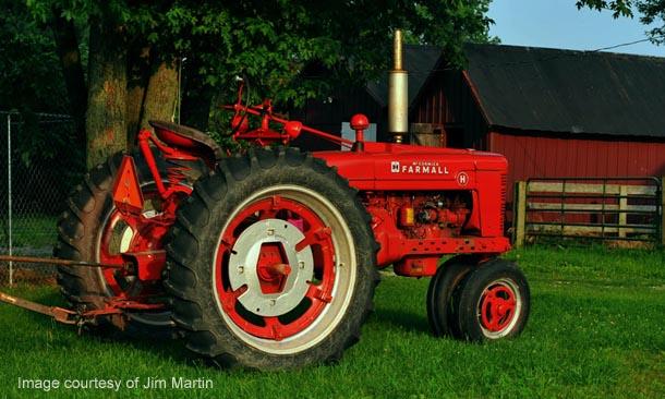 Farmall H on steel, left side.