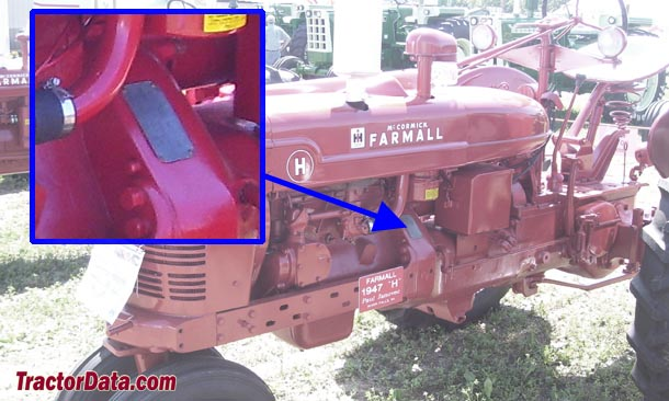 Farmall H serial number location